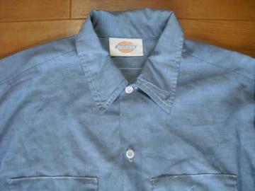 DICKIES ディッキーズ シャンブレーシャツ USA−L