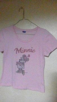 ミニーマウスの半袖Tシャツ/ピンク/M/美品♪