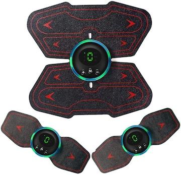 EMS腹筋ベルト 8腹筋パッド 腹筋 腕筋 筋トレ器具 液晶表示