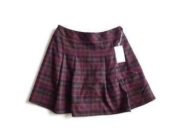 新品 フェルウ Feroux チェック柄 ペチパン付き スカート