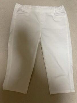 ユニクロ パンツ ホワイト  Lサイズ ウエストゴム