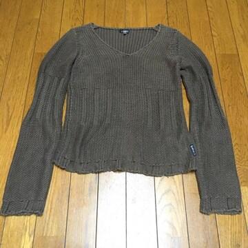 アルマーニ ハンドニット セーター ブラウン 4 美品