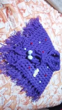 A21  3〜4才用〓手編み三角ストール▽