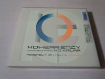 DJ KO KIMURA 2CD「KO:HEAR:ENCY:01」木村コウ 初回盤 2枚組●