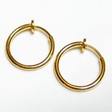 フープイヤリング■金 15mm径