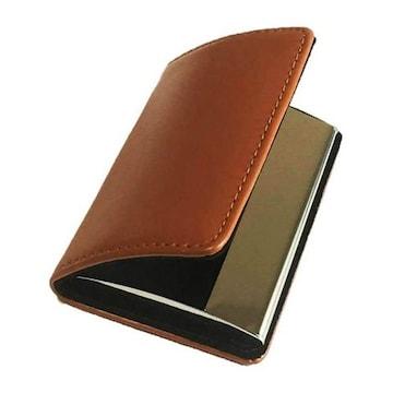 名刺入れ 牛革 カードケース ブラウン