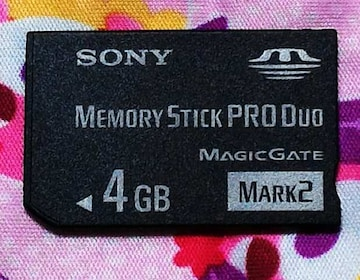 送料無料!中古 SONY ソニーメモリースティック PRODuoの4GB マジックゲート対応