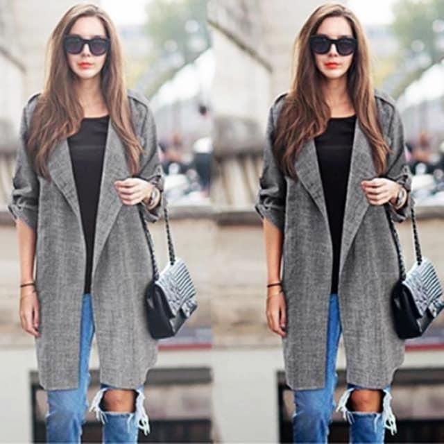 961428大きいサイズジャケット風トッパーシャツカーディガン5L6L < 女性ファッションの