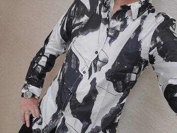 Lサイズ マーブル シャツ トップス レターパック