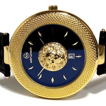 【新品・未使用】KEEP MOVING【金獅子】大型 メンズ腕時計