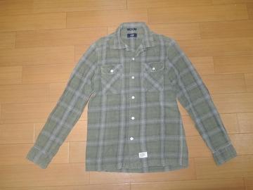 WTAPSダブルタップスVATOSチェックシャツS緑系ネル長袖