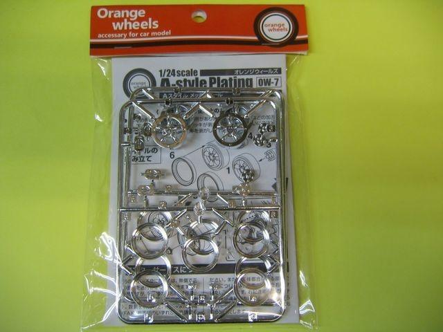 アスカモデル 1/24 Orange wheels OW-7 A-Style メッキタイプ 15インチ  < ホビーの
