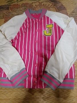 3着以上半額!JN-ロゴスウェットスタジャン160ピンク