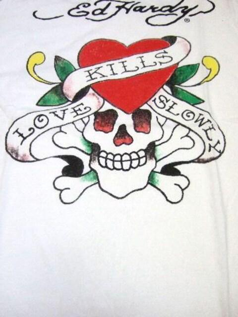 †Ed Hardy†Love Kills Slowly†エドハーディー†ラブキル†Tシャツ†M† < ブランドの