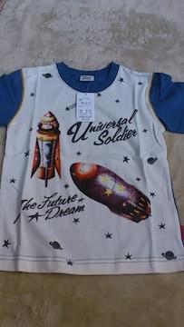 *新品☆110�p・ロケット半袖Tシャツ*