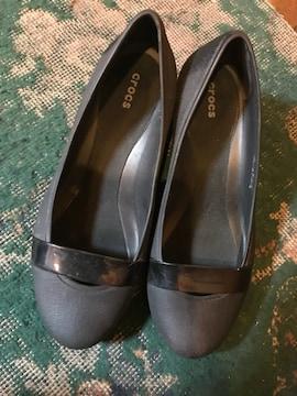 crocs クロックス 黒 ブラック パンプスヒール  靴 W5  22
