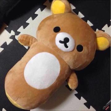 めっちゃ美品 リラックマ BIG ぬいぐるみ 抱き枕にも♪( ´▽`)