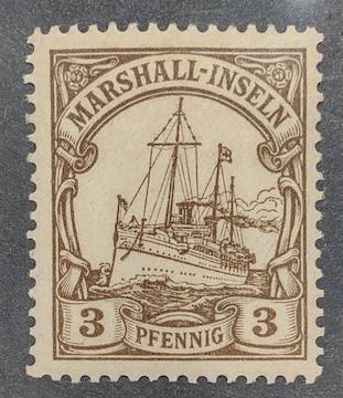 1901年ドイツ占領下マ一シャル諸島カイザーのヨット3pf