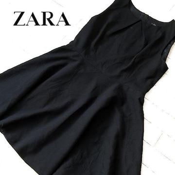 美品 (EUR)L ZARA WOMAN ザラ ワンピース ブラック