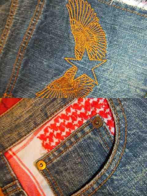 値下げ!★フェノメノン鬼加工&刺繍デニムW34♪スワッガー大きいサイズ < ブランドの