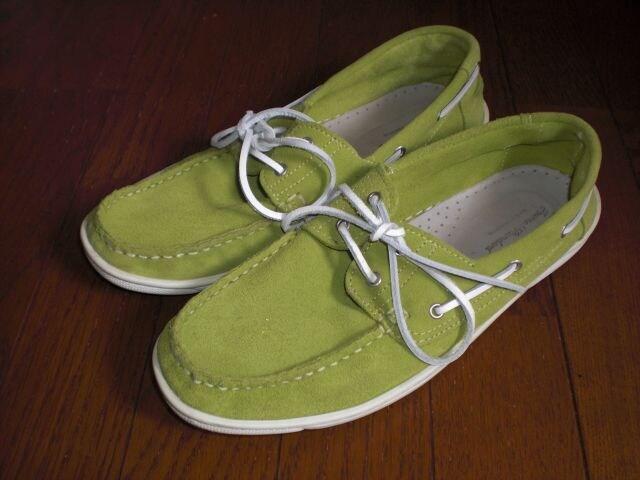 ジャーナルスタンダードjournal standard デッキシューズ スニーカー靴 黄緑  < ブランドの