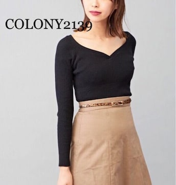 定価3,235円●ハートネックリブニット【新品未使用】COLONY2139