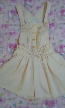リズリサ&マイメロディコラボリズメロサロペットサーモンピンク色