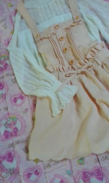 リズリサ&マイメロディコラボリズメロサロペットサーモンピンク色 < ブランドの
