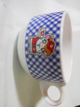 ハム太郎スープカップ/青チェック