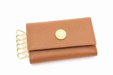 BVLGARI  ブルガリブルガリ レザー 6連キーケース キャメル 美品【送料無料】