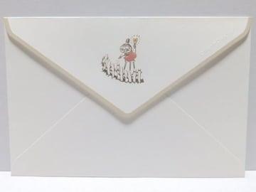 ミイ&ニョロニョロ/ムーミンゴージャス*金箔.ぷっくり加工★封筒4枚セット