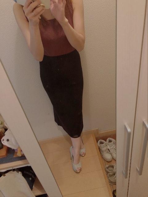 UNIQLO☆黒ニットタイトスカート < ブランドの