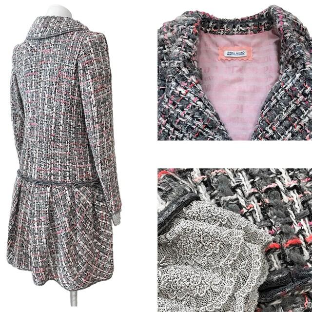 新品イピンコパリーノI PINCO PALLINOツイードコートXSク < 女性ファッションの