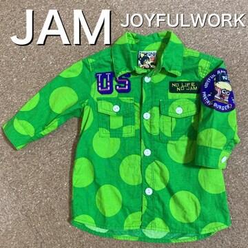 100サイズ 5〜7分袖 シャツ JAM
