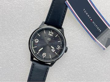 T368 新品★ トミーヒルフィガー メンズ 腕時計 本革ベルト