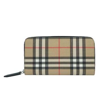 ◆新品本物◆バーバリー MS LG ZIG 長財布(BE)『8016612』◆