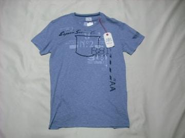 29 男 REPLAY リプレイ 青 半袖Tシャツ Sサイズ