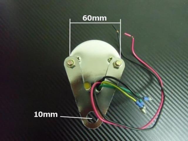 フルLED仕様!電気式バイク用タコメーターφ60mm13000RPM回転計 < 自動車/バイク