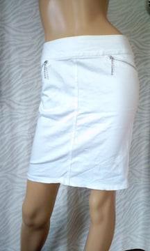 大きいサ†W70(*^-^)キラキラストーンファスナータイトスカート