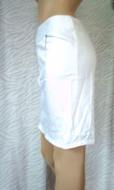 大きいサ†W70(*^-^)キラキラストーンファスナータイトスカート < 女性ファッションの
