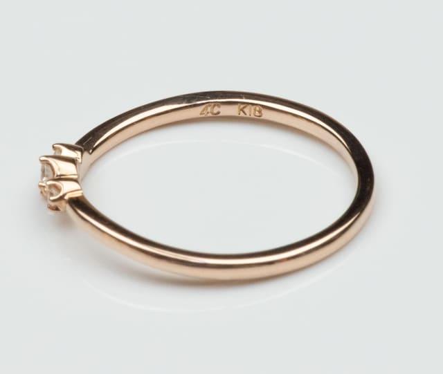4℃ ヨンドシー K18 ピンクゴールド ダイヤモンド リング 10号 < ブランドの