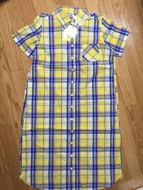 新品タグ付ロデオクラウンズ半袖Tシャツチェック柄シャツワンピーススカート  < ブランドの