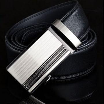 オートロック式 本革高級ベルト 110cm〜125cm 長さ選択 X