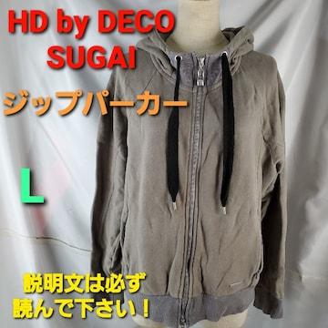 込み★HD by DECO SUGAI☆ジップパーカー★L★