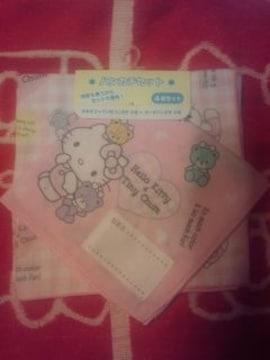キティ可愛ぃハンカチ4枚セット☆ピンク☆新品未使用タグ付☆
