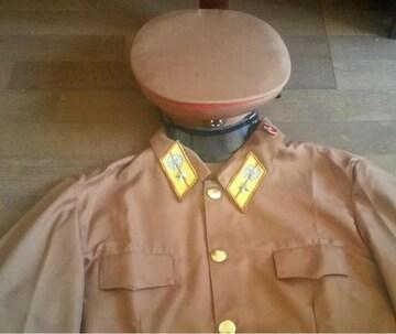 激レア 北朝鮮人民軍上下帽子 階級章フルセット 北朝鮮軍服