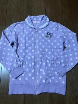 ゆめタウン購入☆綺麗な紫色のドット柄ジップアップ