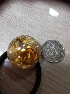 薔薇のヘアゴム。送料120円