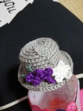 コットンヤーンで編んだ麦わら帽子1