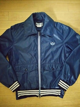 80s デサント製 adidas 中綿入り ナイロン ジャケット M